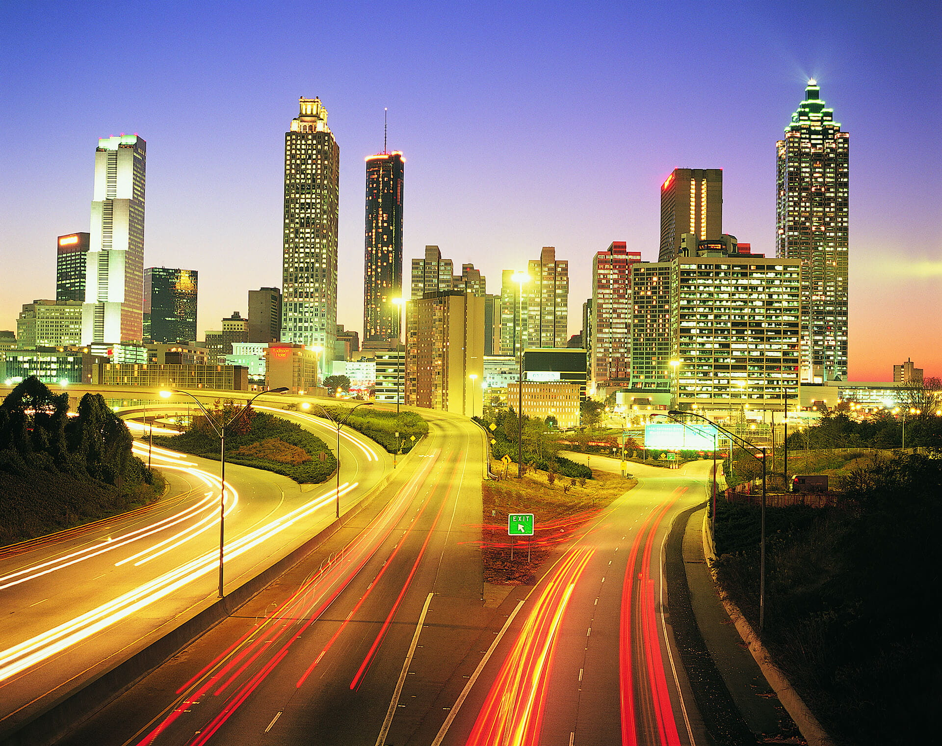 Atlanta Traffic Skyline