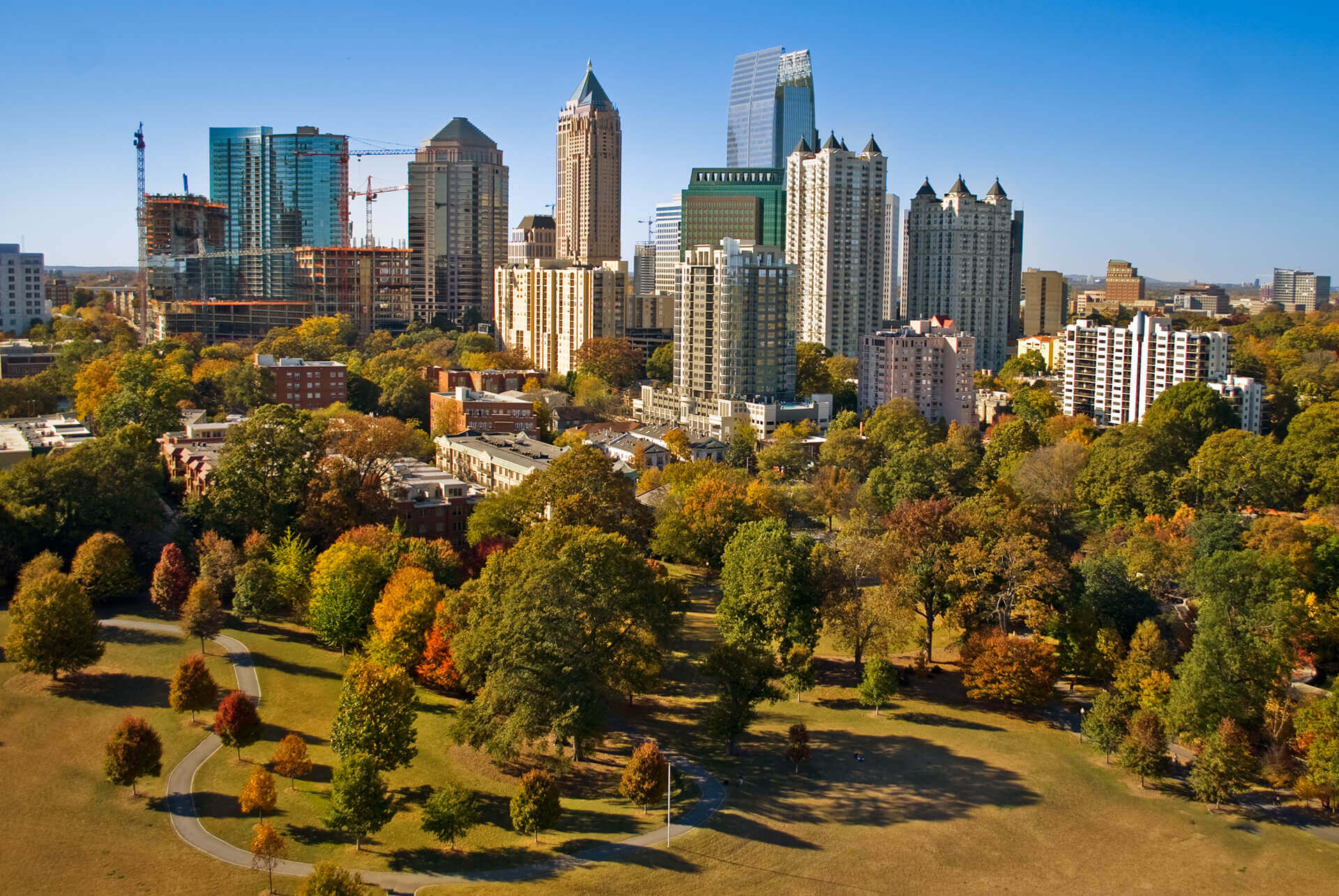 Piedmont park during fall