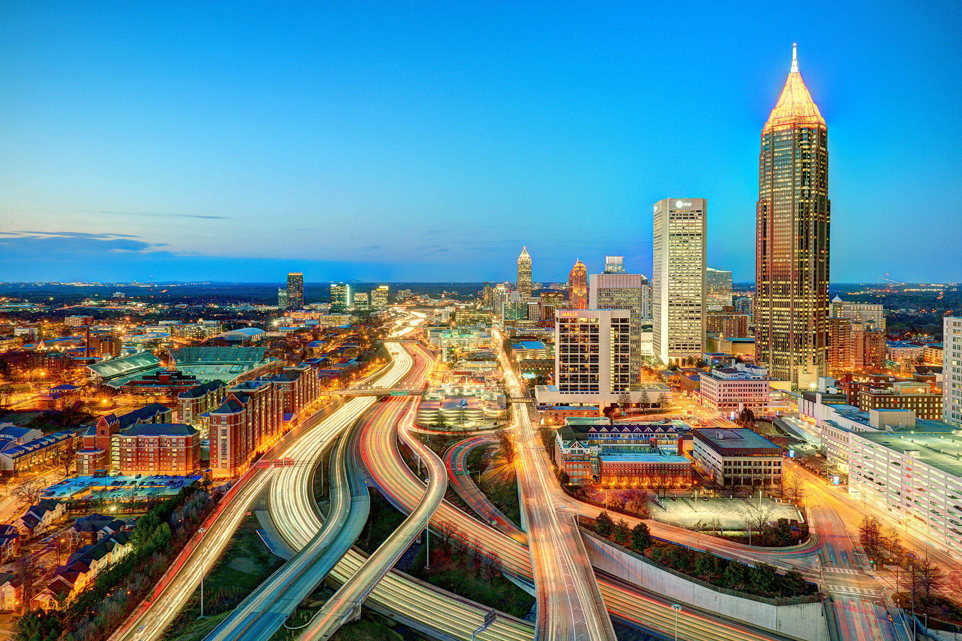 Atlanta Interstate City to East Night