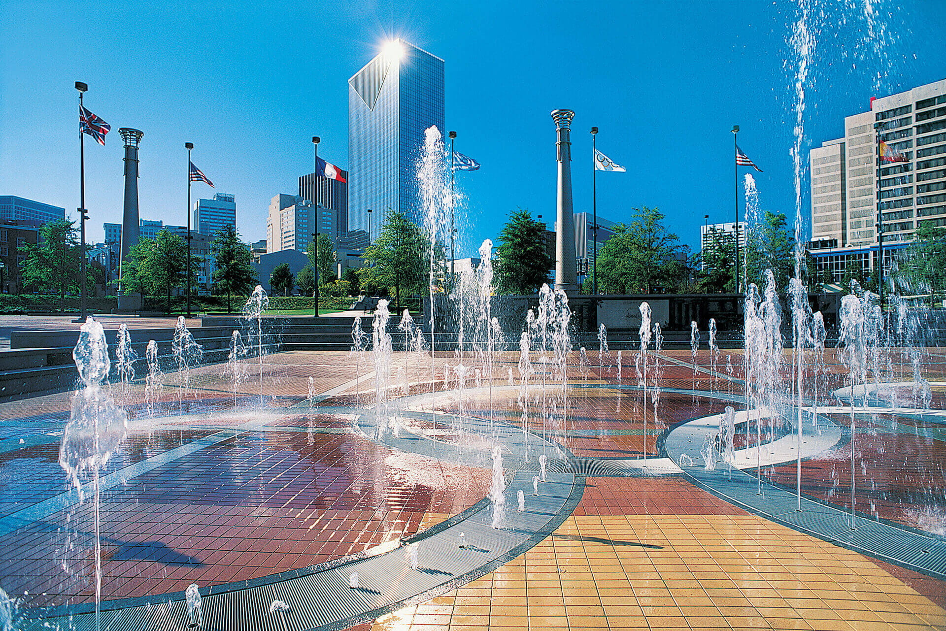 Centennial park floor fountains