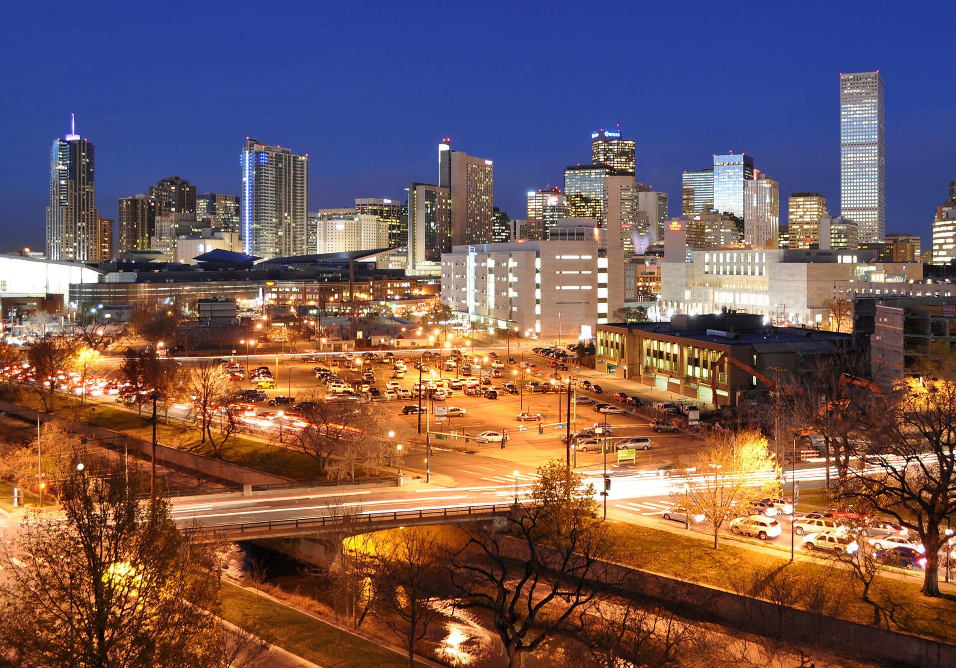 Denver Citylife at Night