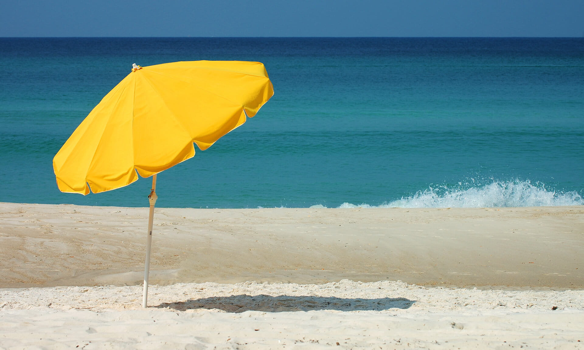 Florida Beach Yellow Umbrella