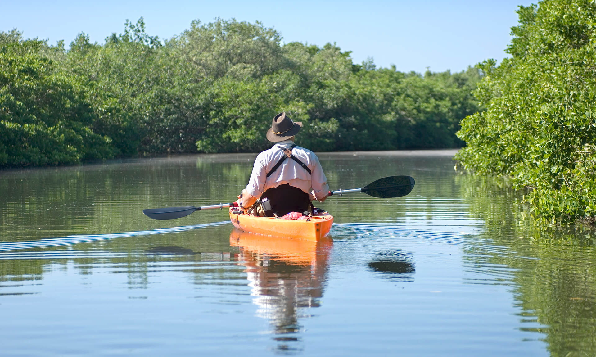 A person on a kayak