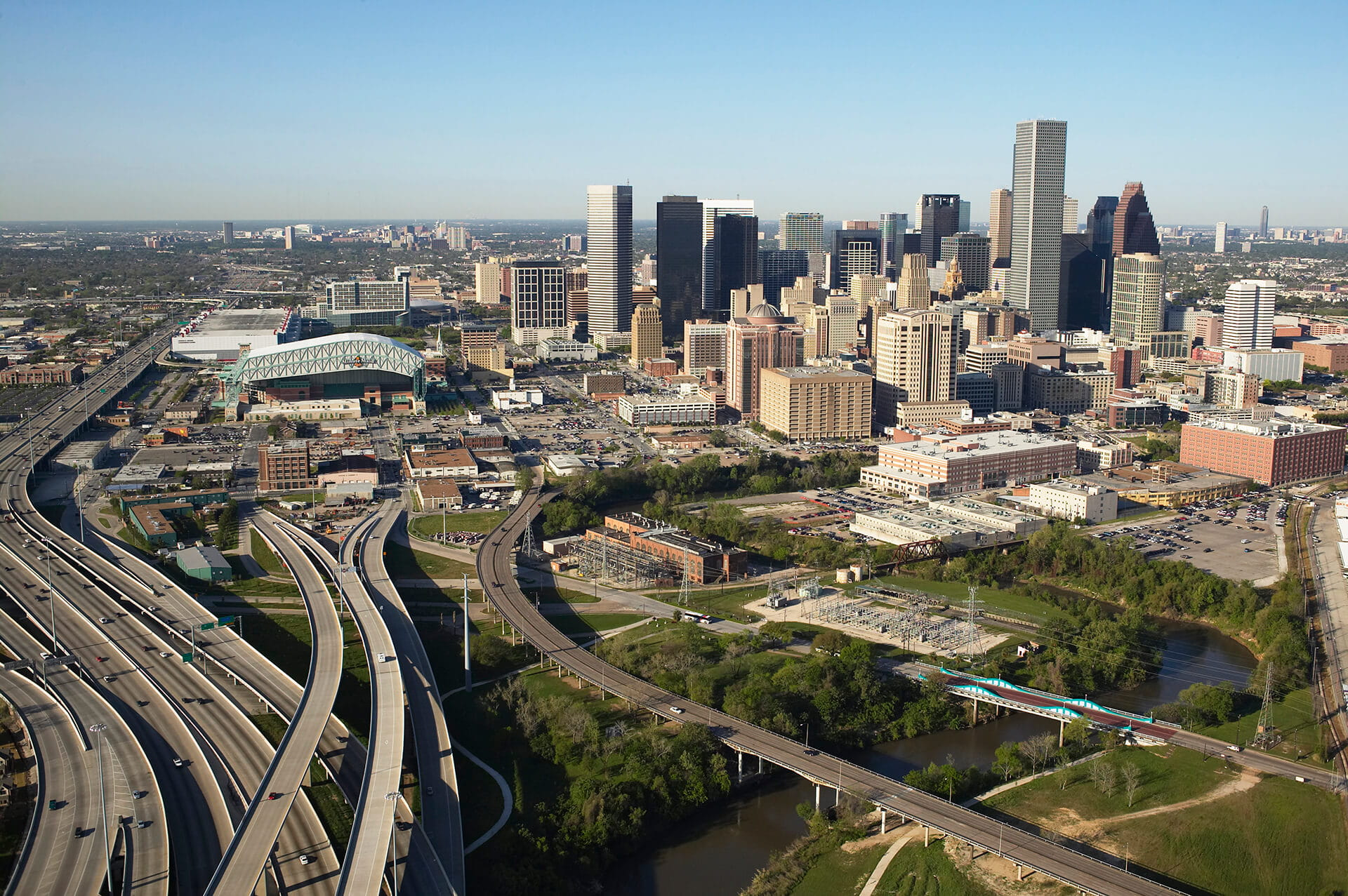 Aerial view of Houston