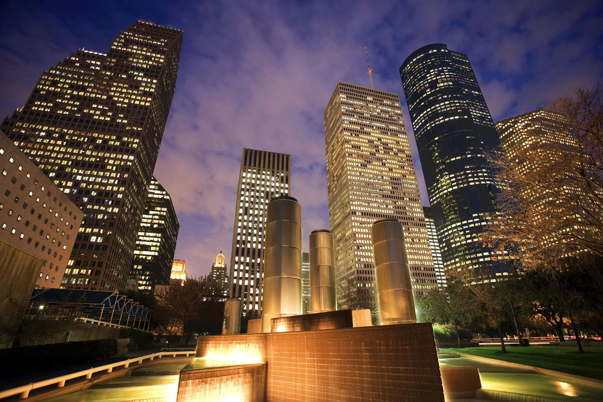 Houston Skyscrapers at night
