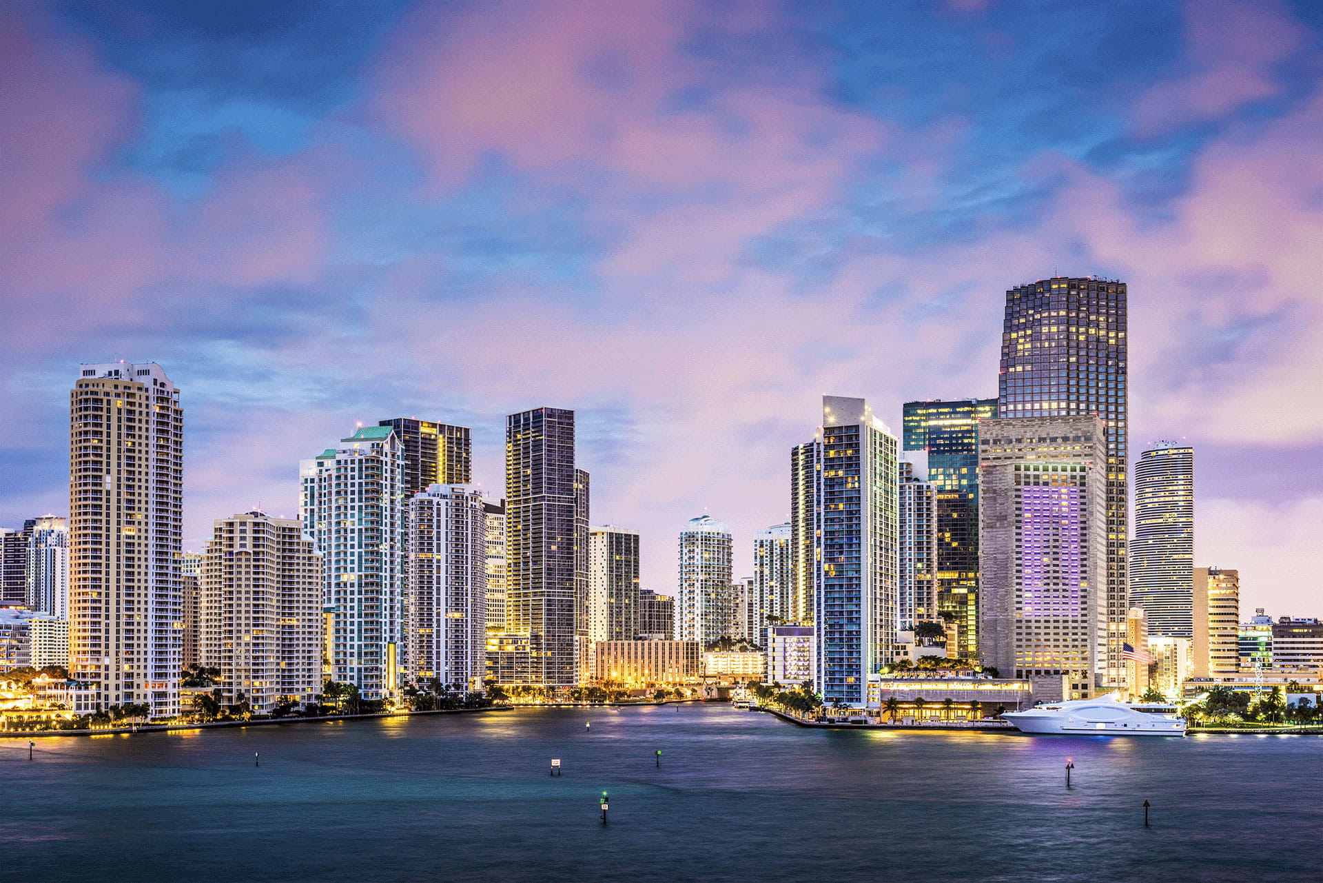 Colorful Skies Miami Skyline