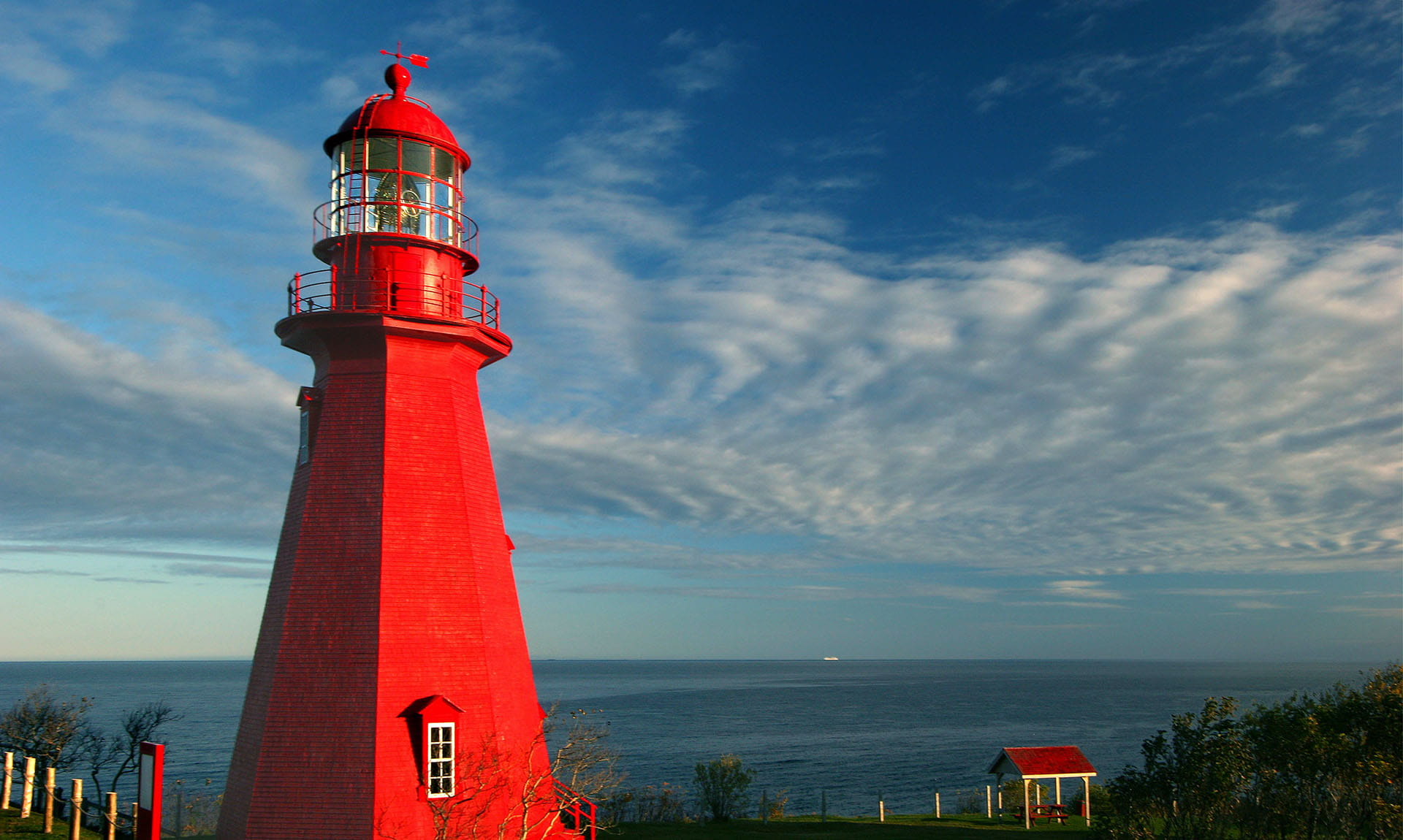Red Lighthouse Landscape