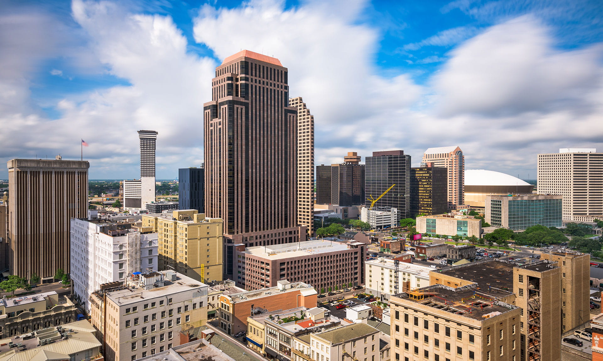 Aerial view of New Orleans