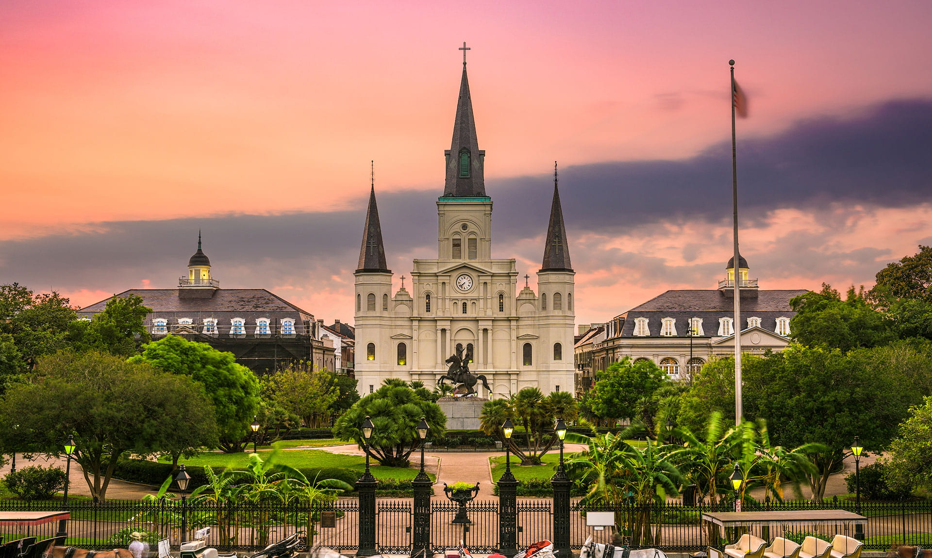 Jackson Square, New Orleans during Sunset