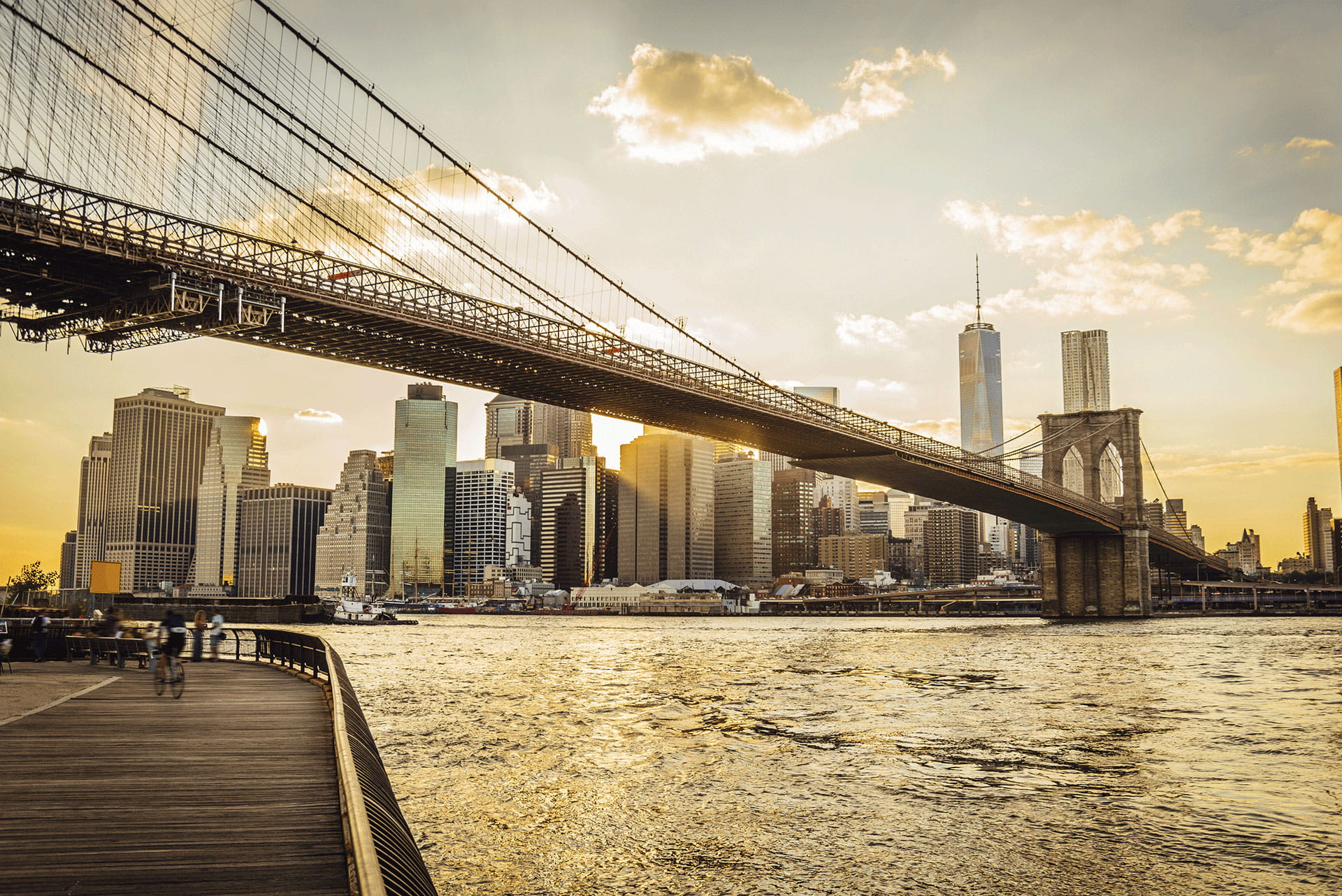 Brooklyn Bridge, New York at Sunrise