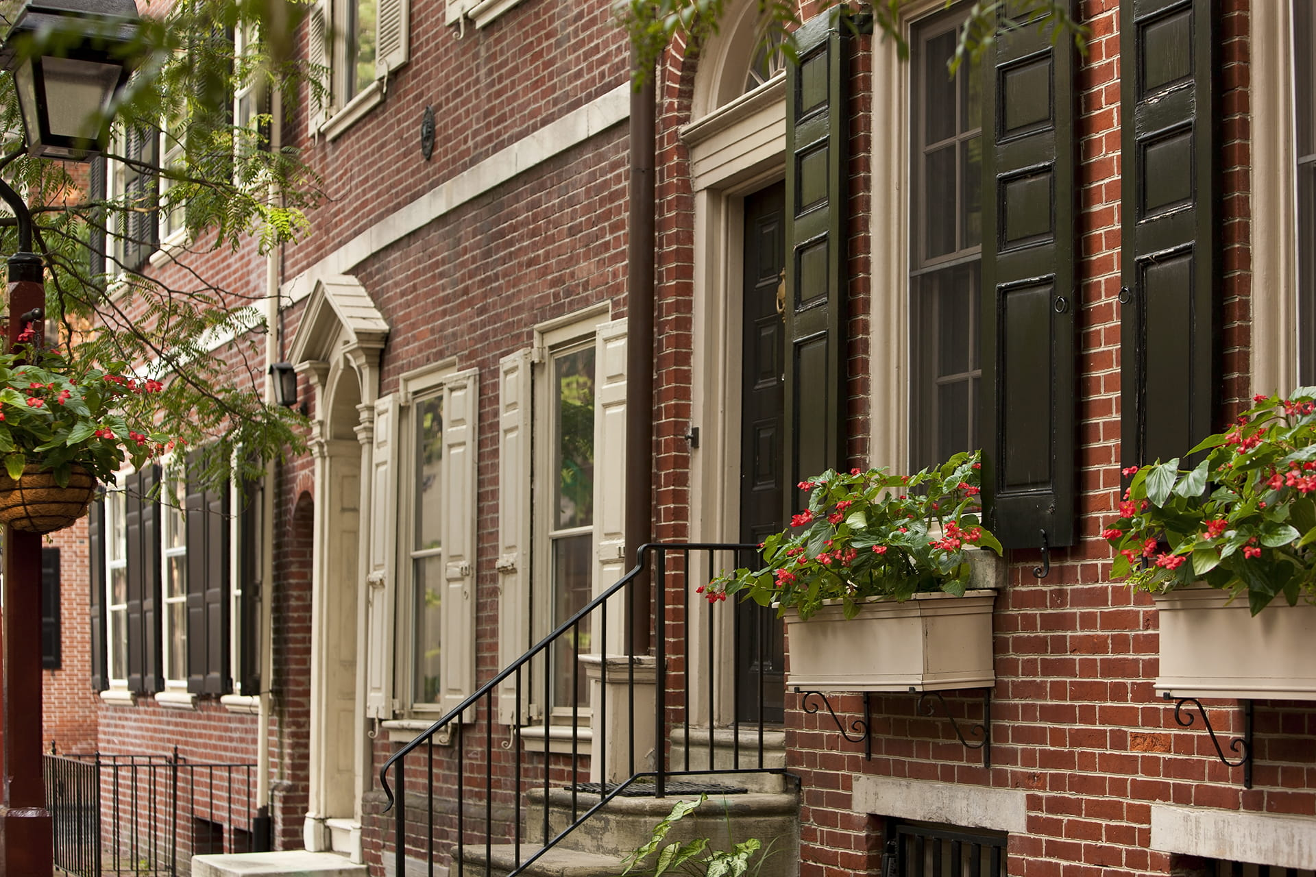 Philadelphia Red Brick Neighborhood