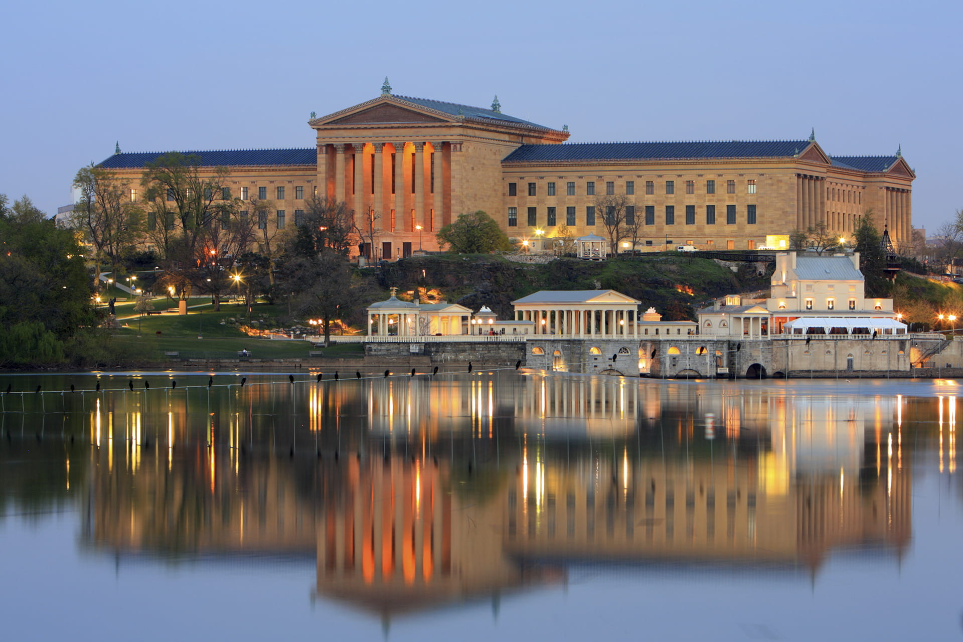 Philadelphia Museum of Art and water works