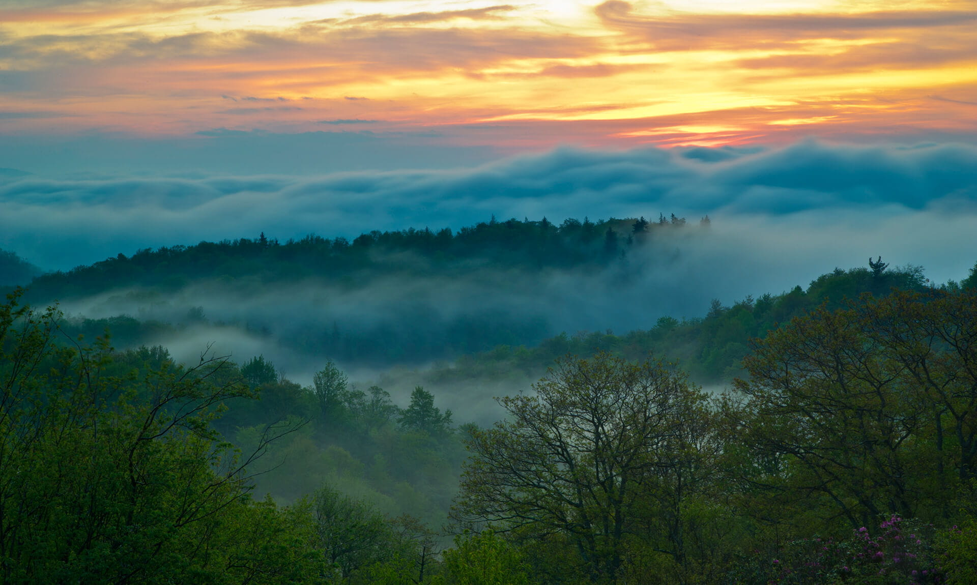 Appalachian Mountain View Sunrise