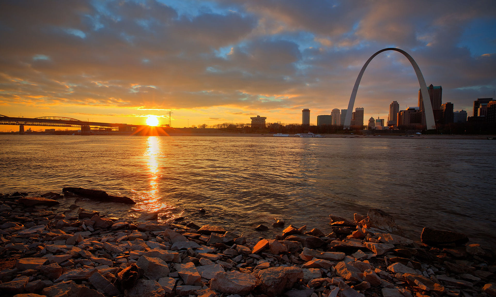 St. Louis view from Beach Sunset