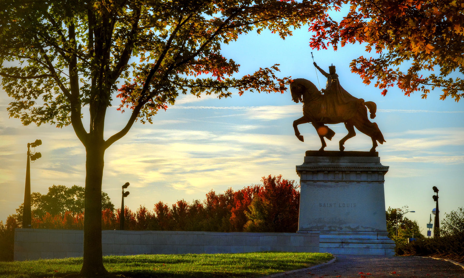 King Louis IX of France statue in Forest Park, St. Louis