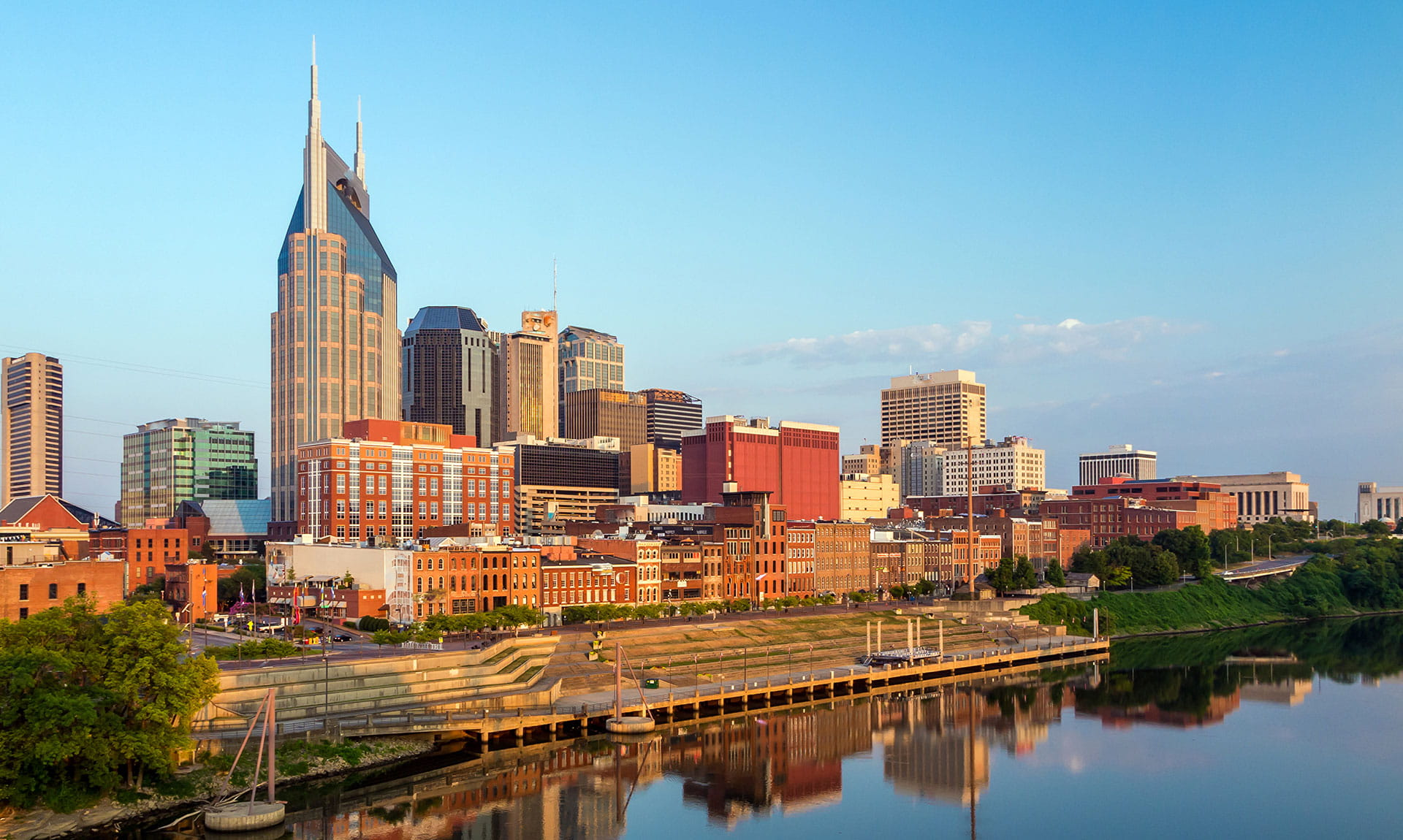 Tennessee Cityscape Waterfront