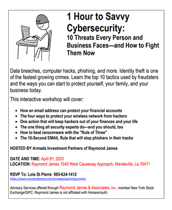 Cybersecurity event flyer