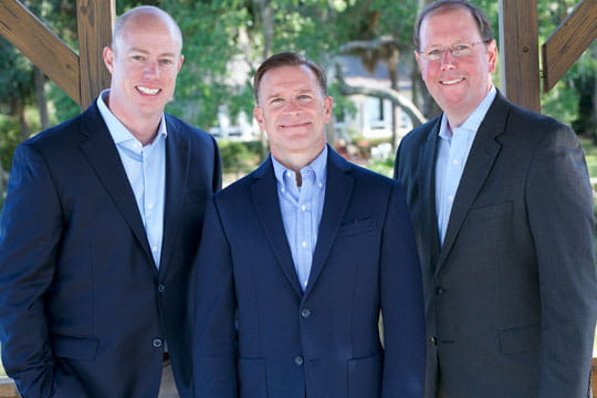 Coastal States Wealth Management of Raymond James team. Left to right, Christopher T Spires, M Dustin Wilder and Craig Gilmour.