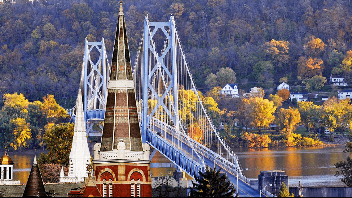 Maysville Bridge and Church