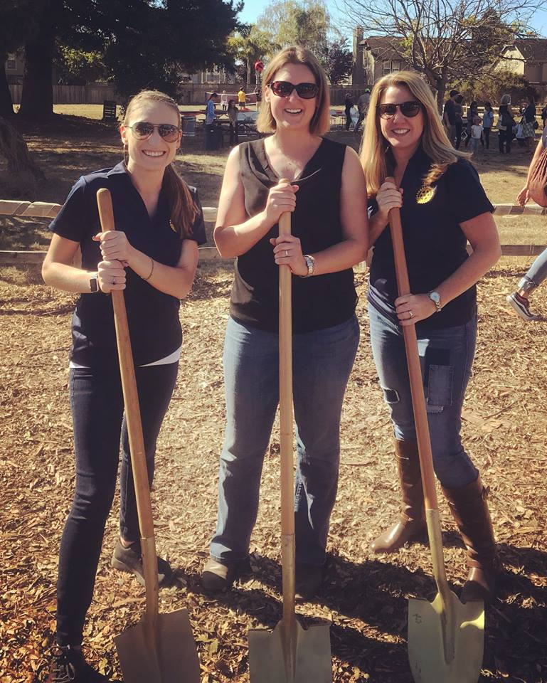 LEO's Haven Groundbreaking. Fundraiser co-chairs Kendra and Michele Bassi, along with LEO's Haven visionary Tricia Potts