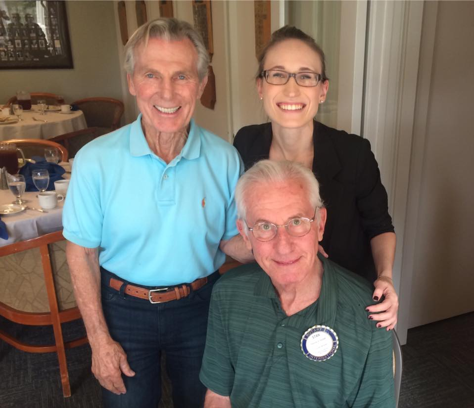 Kendra with Rotarian Dr. Stan Hajduk and his best friend, Honorary Rotarian Dennis Hartley.