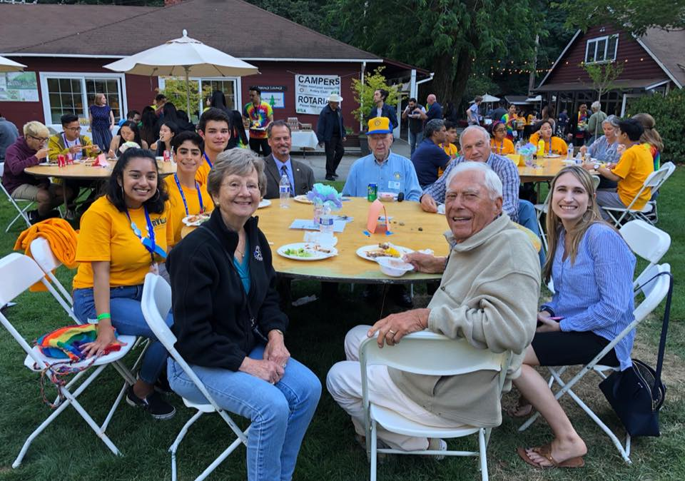BBQ Dinner for Rotarians to meet the Camp RYLA attendees, Summer 2018.
