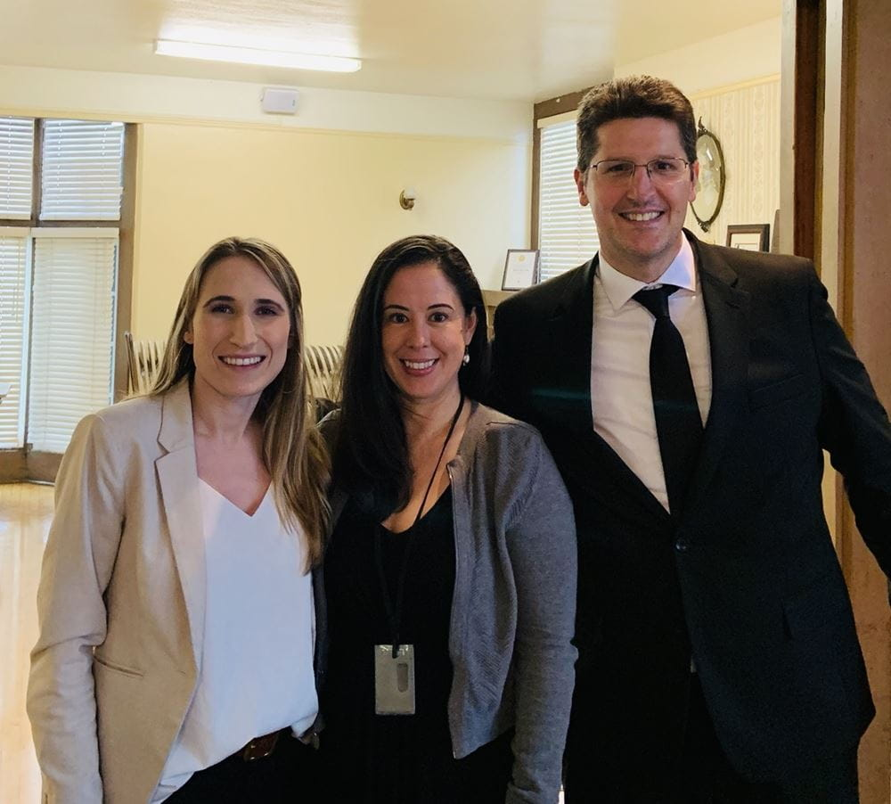 Eric and Kendra with June 2019 meeting speaker, Christina Granados, Partnership Specialist with the US Census Bureau.