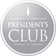 President's Club badge.