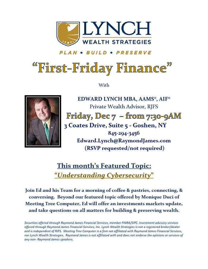 First Friday Finance Flyer