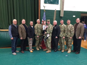 Lieutenant Colonel Ed Lynch with fellow Retired Army Officers & NCOs from 411th Engineer Brigade