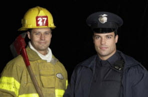 A Firefighter & Police Officer