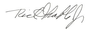 Rich Grable signature