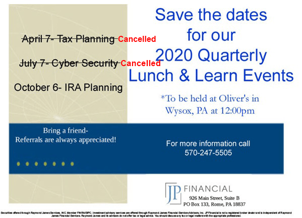 2020 Lunch & Learn Events Flyer