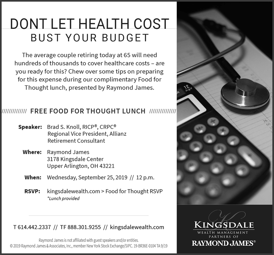 Don't Let Health Cost Bust Your Budget event invite