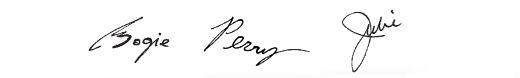 Signatures of Bogie, Perry and Julie.