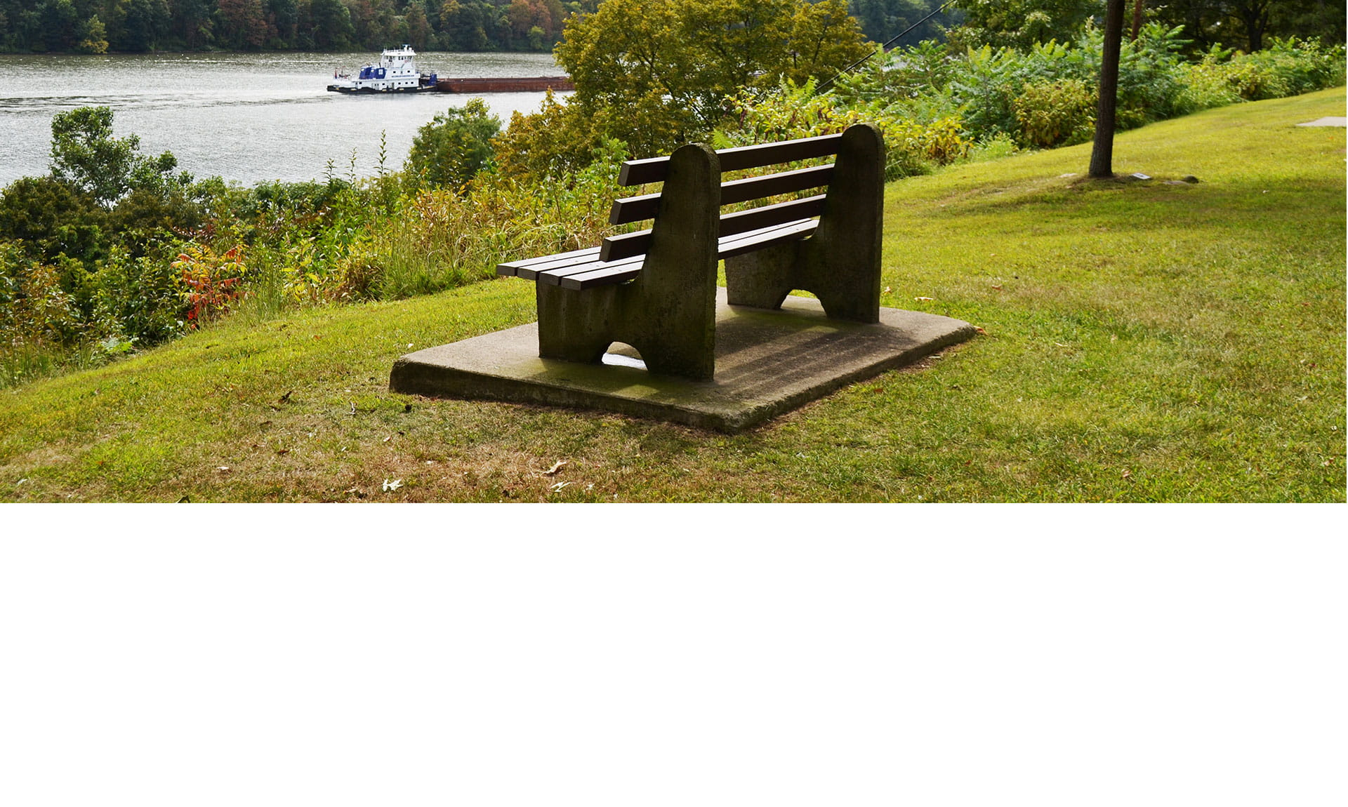 Bench looking across river