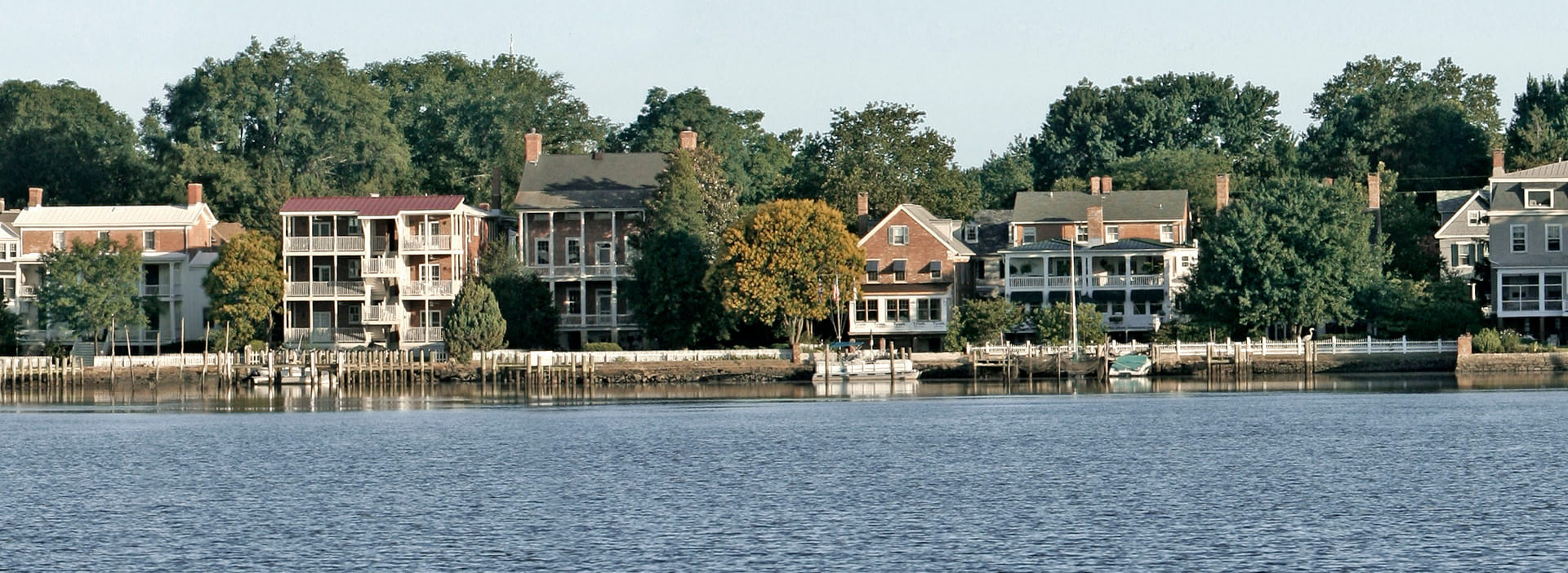 Residential downtown Chestertown on the water.