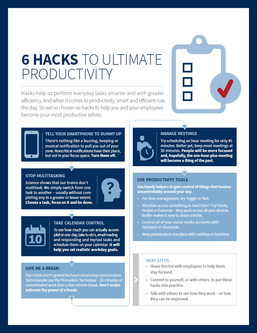 6 Hacks to Boost Your Productivity [INFOGRAPHIC]
