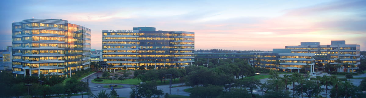 Panoramic Shot at Sunset of Raymond James Home Office Buildings