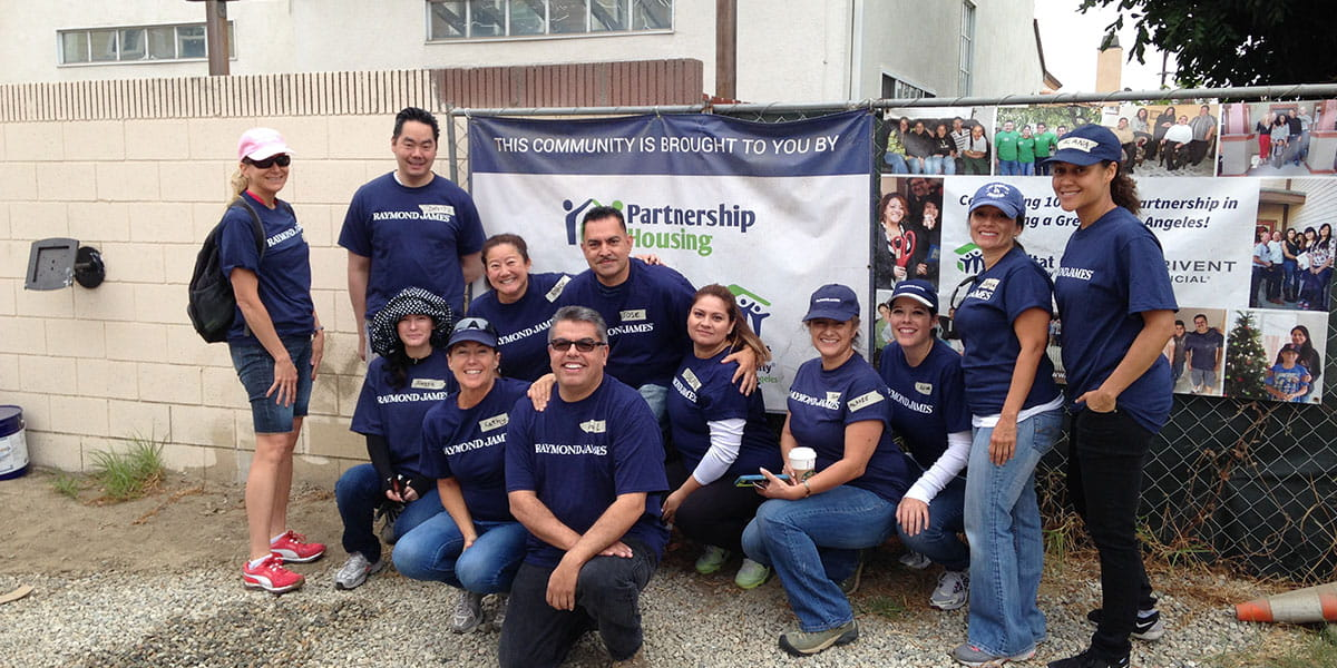 The Raymond James Los Angeles and the Beverly Hills branches worked on a six-house build with Habitat for Humanity Greater Los Angeles