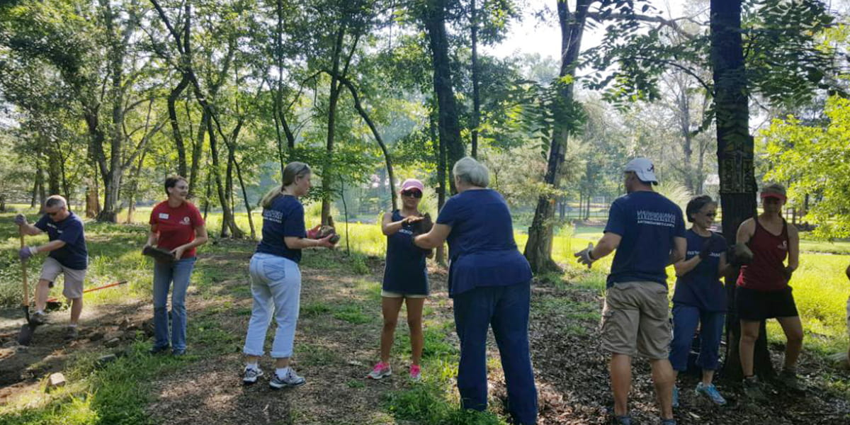 Associates Giving Back at Red Barn Equine Therapy