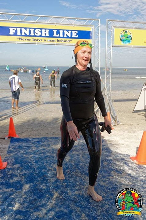 Associate swims across Tampa Bay for the Navy SEAL Foundation