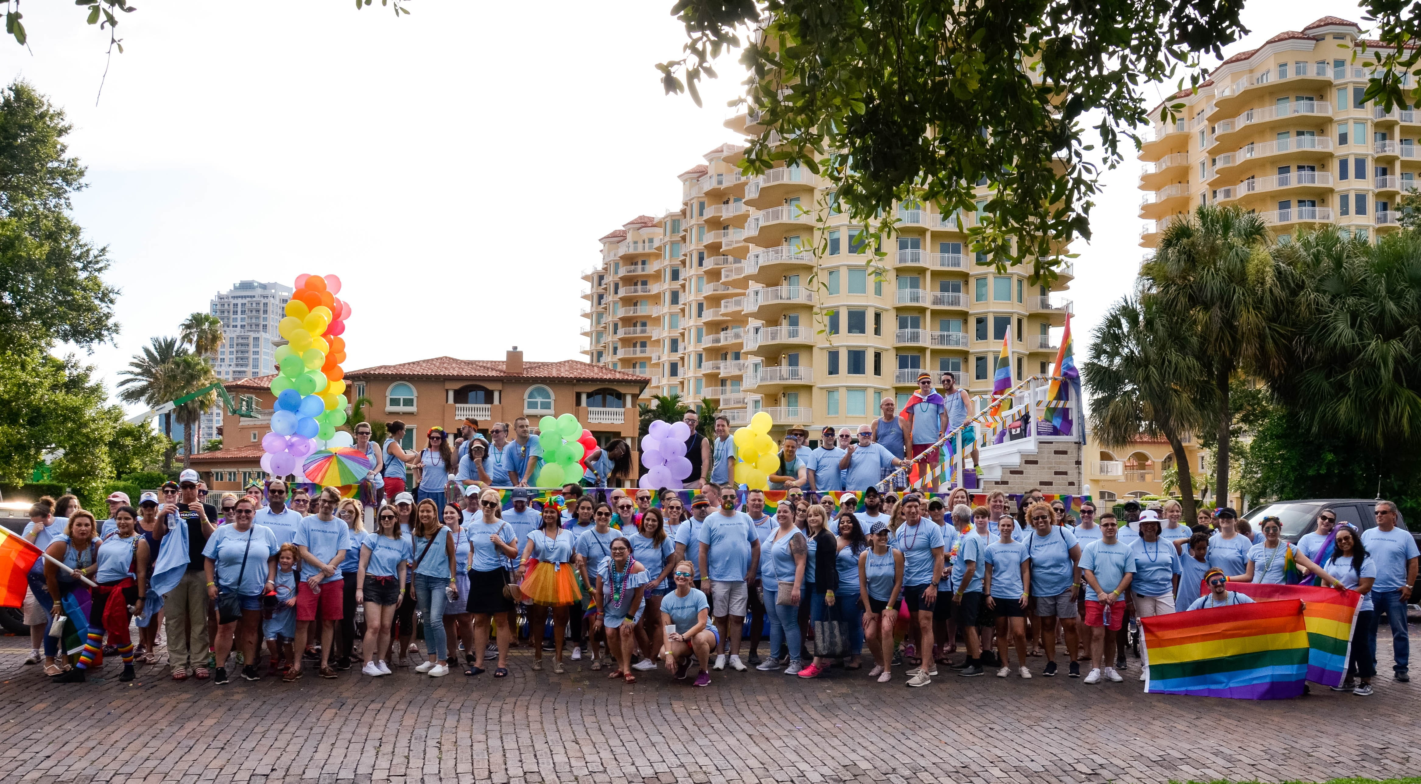 Associates, family members and friends attend the St. Petersburg Pride Parade to celebrate the LGBTQA+ community