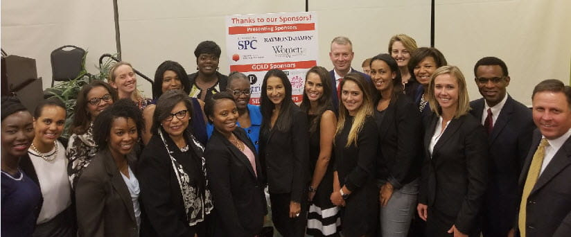 Associates attend the YWCA Women of Color Leading Change event.