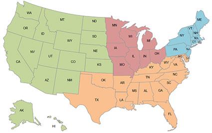 Independant RIA Regional Map